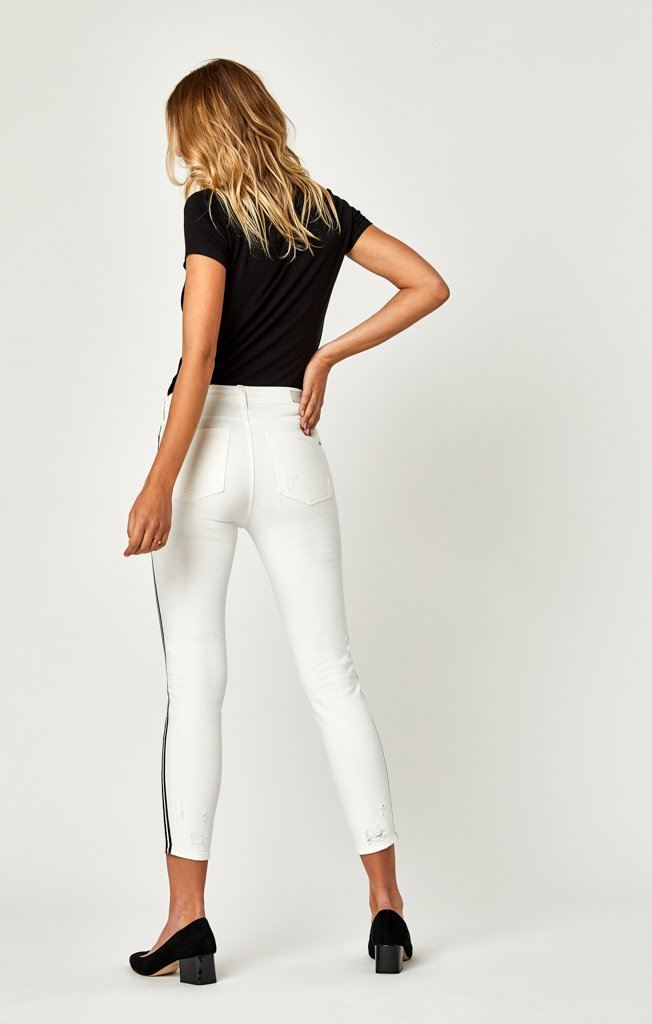 TESS SUPER SKINNY IN WHITE STRIPE - Mavi Jeans