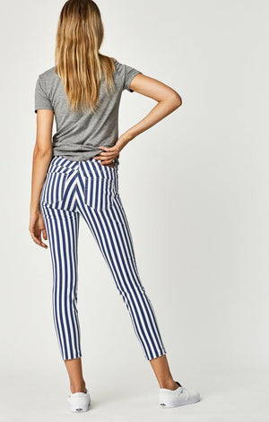 TESS SUPER SKINNY IN WHITE STRIPE DENIM - Mavi Jeans