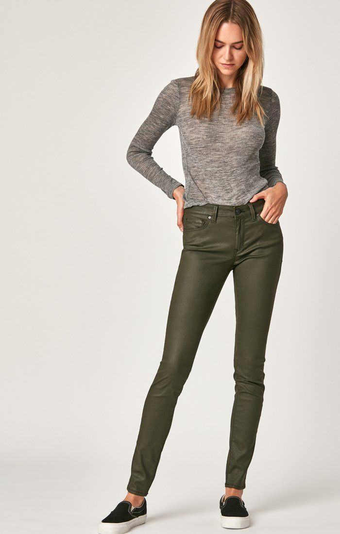 TESS SUPER SKINNY IN KHAKI JEATHER - Mavi Jeans