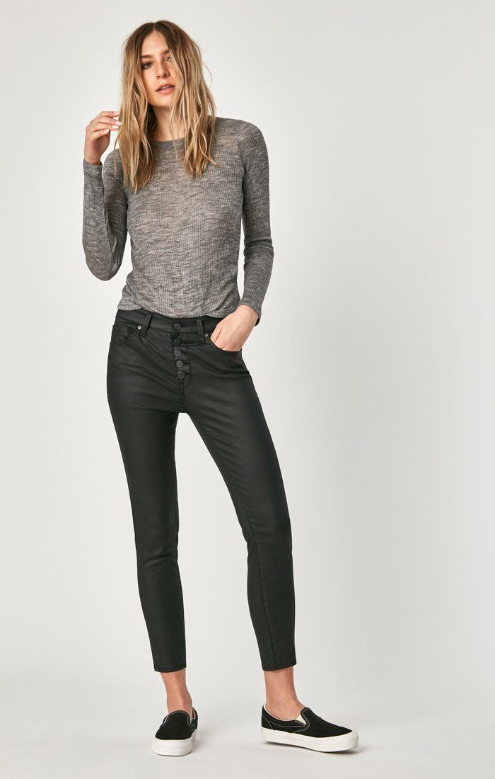 TESS SUPER SKINNY IN BLACK JEATHER - Mavi Jeans