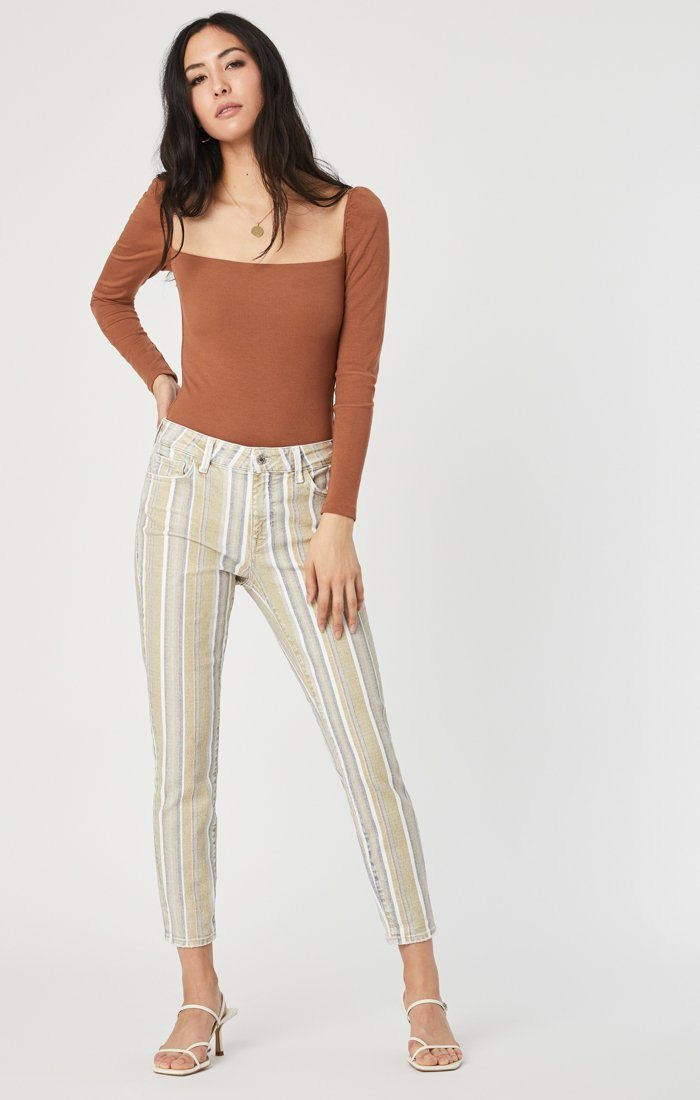 TESS SUPER SKINNY IN SUMMER STRIPE STRETCH Image 1