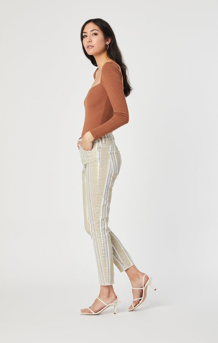 TESS SUPER SKINNY IN SUMMER STRIPE STRETCH Image 3
