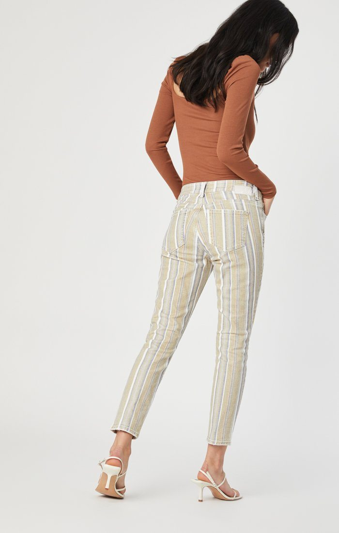 TESS SUPER SKINNY IN SUMMER STRIPE STRETCH Image 4