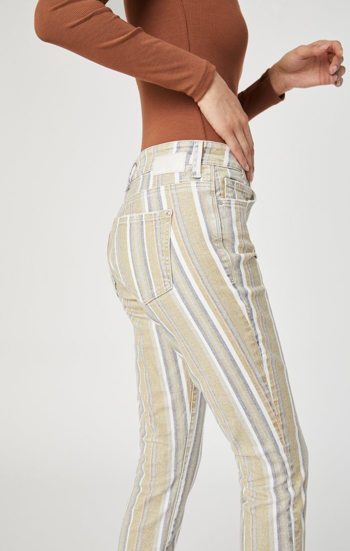 TESS SUPER SKINNY IN SUMMER STRIPE STRETCH Image 5