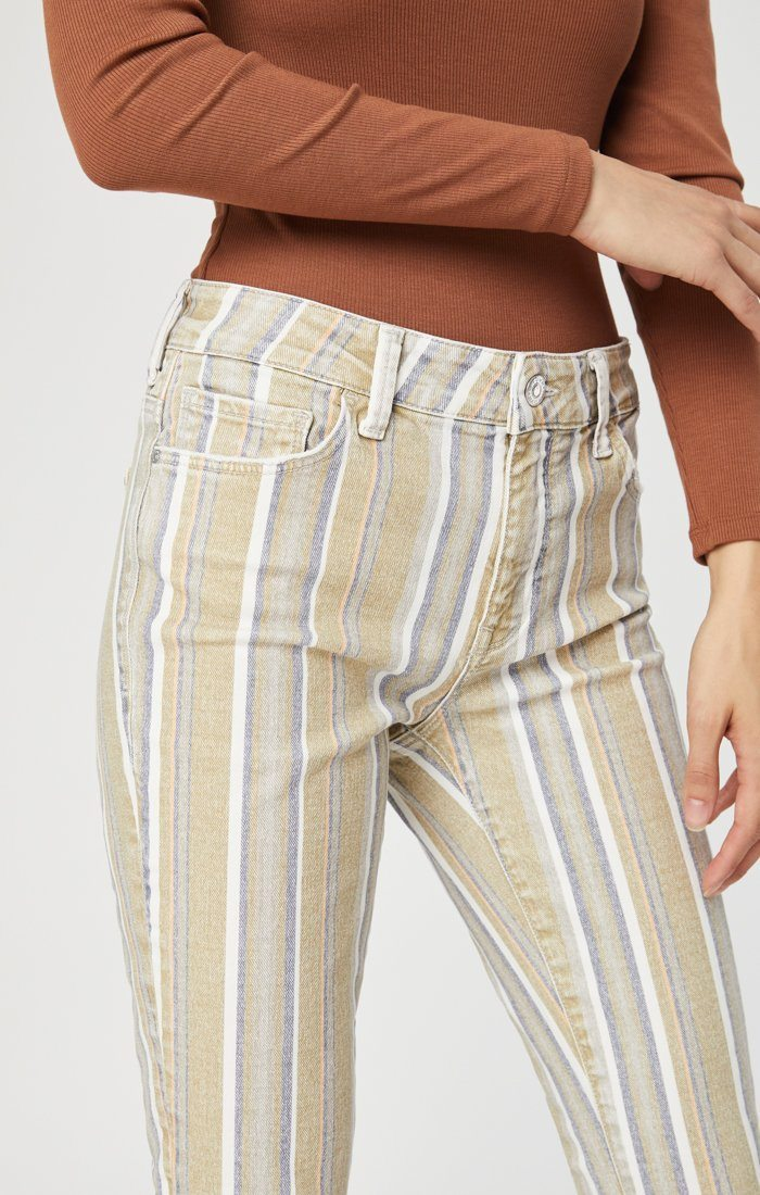 TESS SUPER SKINNY IN SUMMER STRIPE STRETCH Image 2
