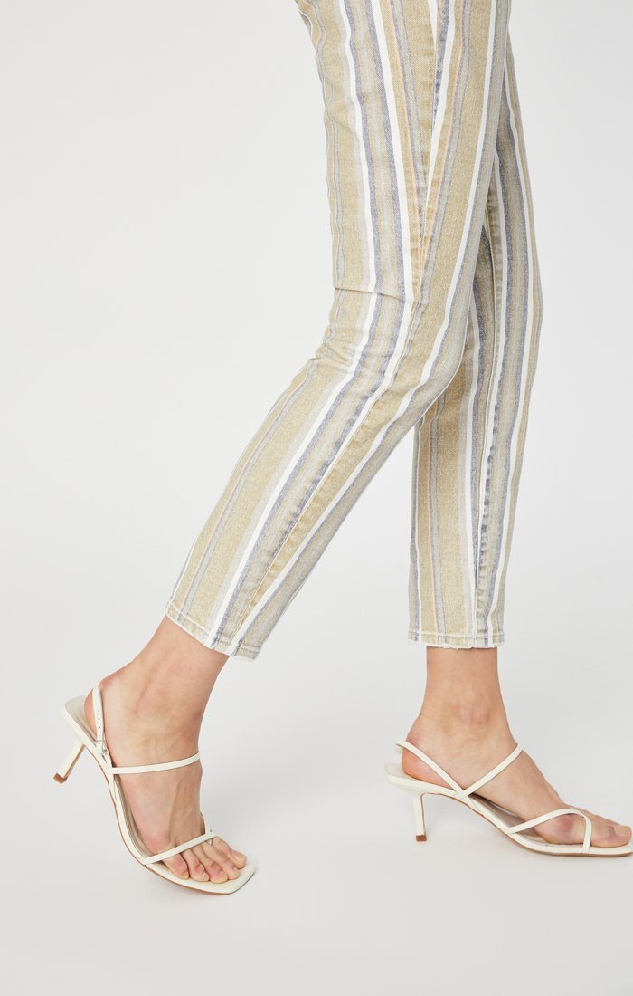 TESS SUPER SKINNY IN SUMMER STRIPE STRETCH Image 6