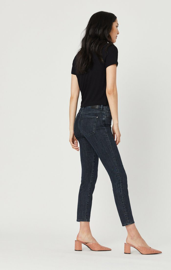 TESS SUPER SKINNY JEANS IN SMOKY BLUE STRETCH Image 3