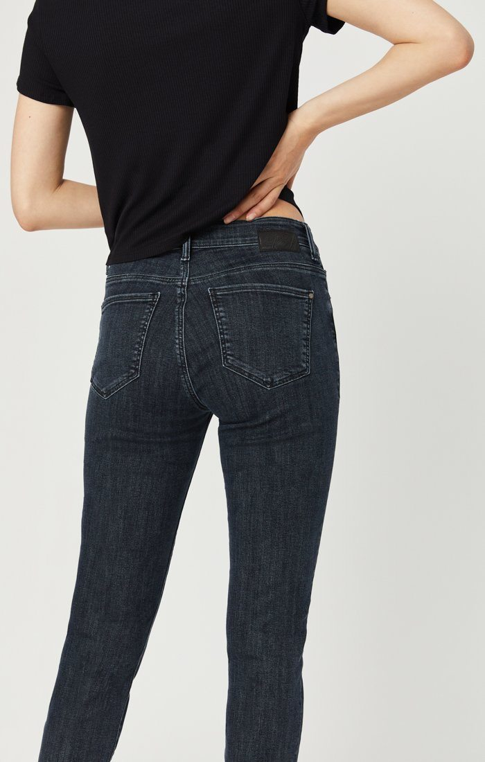 TESS SUPER SKINNY JEANS IN SMOKY BLUE STRETCH Image 4