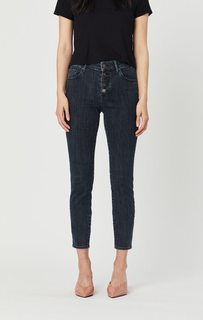 TESS SUPER SKINNY JEANS IN SMOKY BLUE STRETCH Image 7