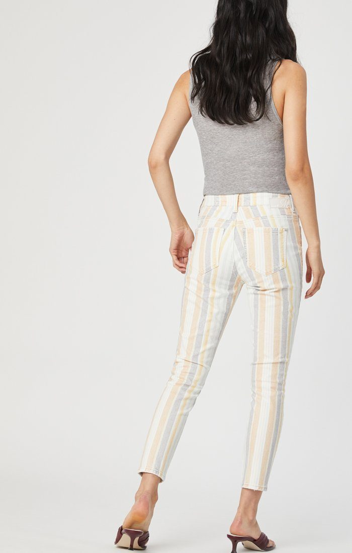 TESS SUPER SKINNY JEANS IN SPRING STRIPE STRETCH Image 5