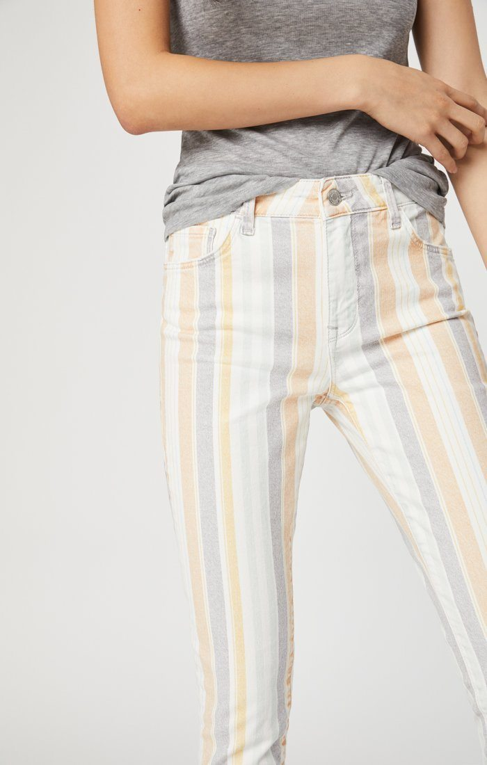 TESS SUPER SKINNY JEANS IN SPRING STRIPE STRETCH Image 1