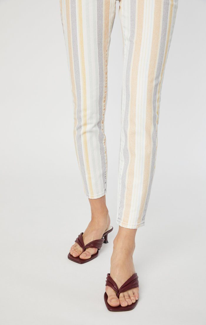 TESS SUPER SKINNY JEANS IN SPRING STRIPE STRETCH Image 7