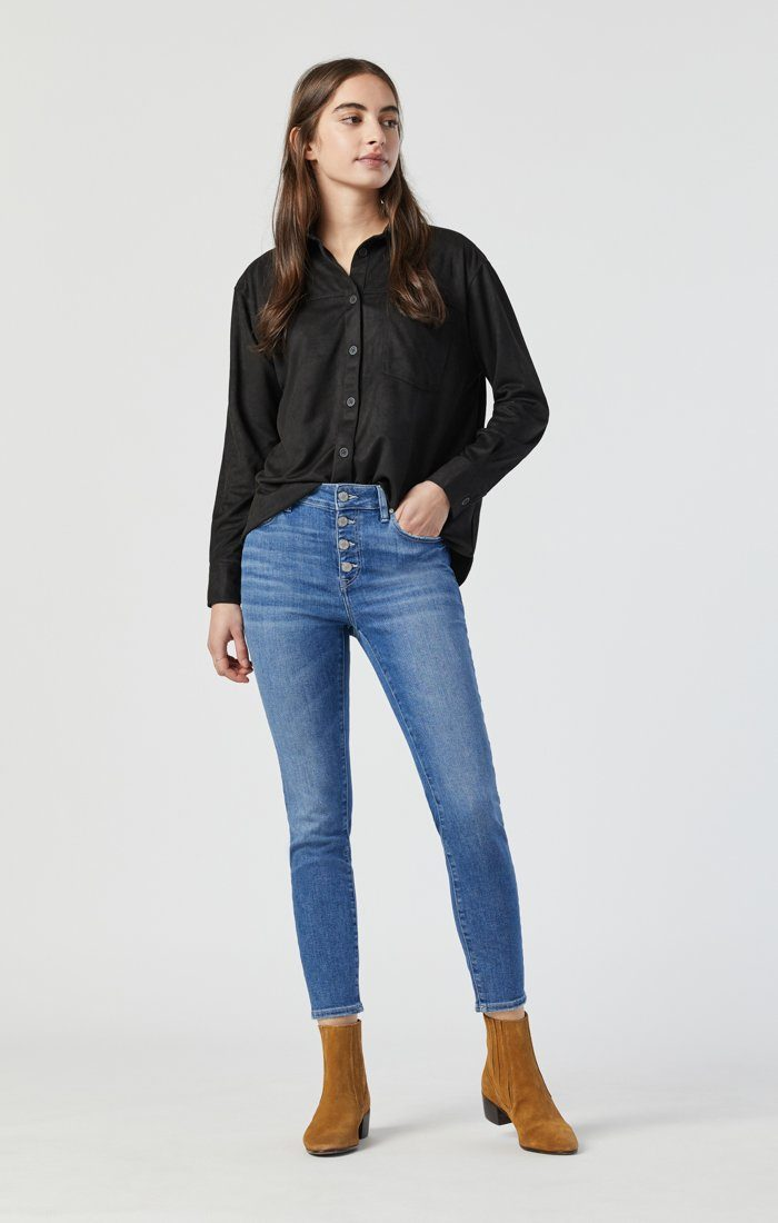 TESS SKINNY IN LIGHT FRAYED HEM RECYCLED BLUE Image 1
