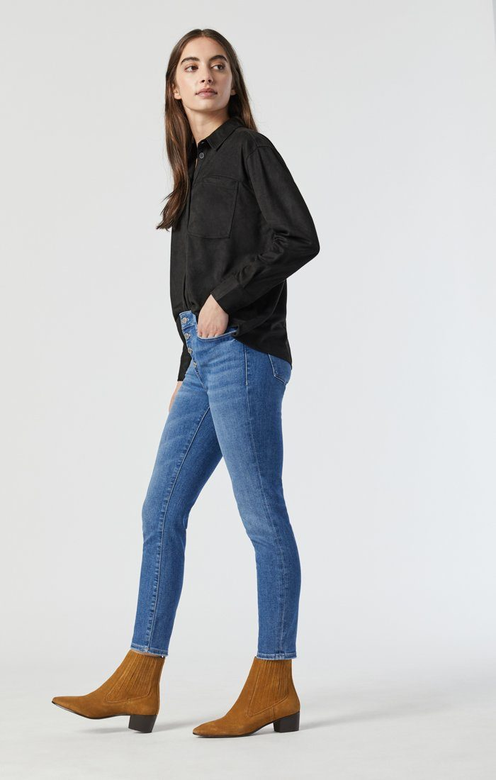 TESS SKINNY IN LIGHT FRAYED HEM RECYCLED BLUE Image 2