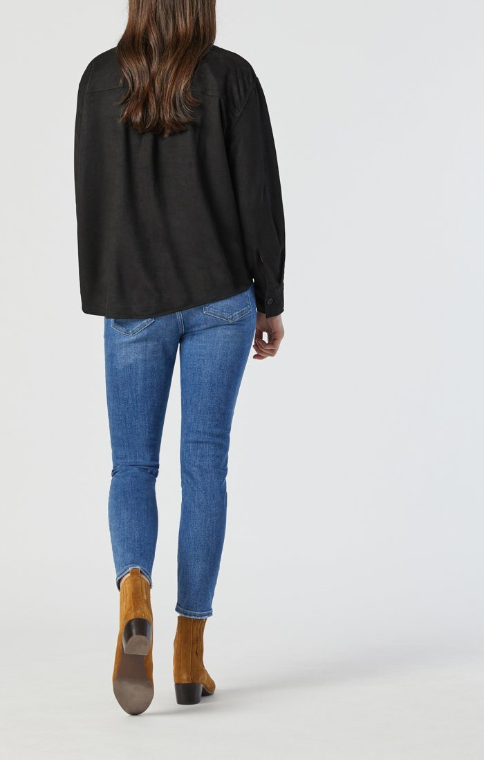 TESS SKINNY IN LIGHT FRAYED HEM RECYCLED BLUE Image 4