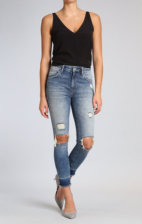 TESS SUPER SKINNY IN SHADED RIPPED VINTAGE - Mavi Jeans