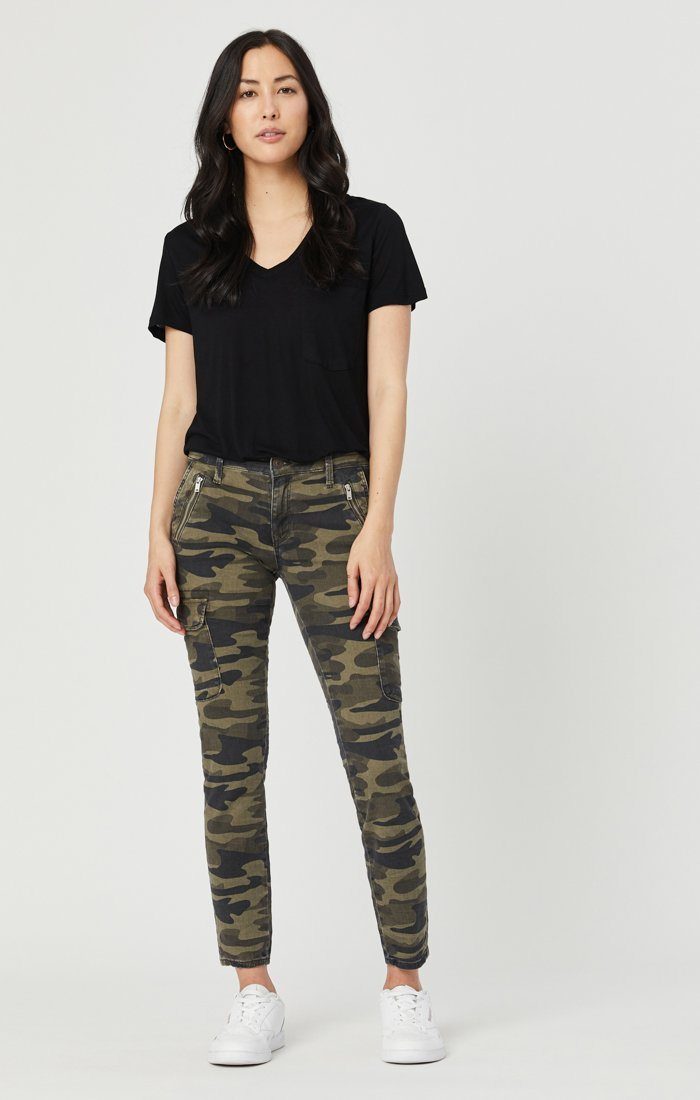JULIETTE SKINNY CARGO IN MILITARY CAMOUFLAGE Image 2