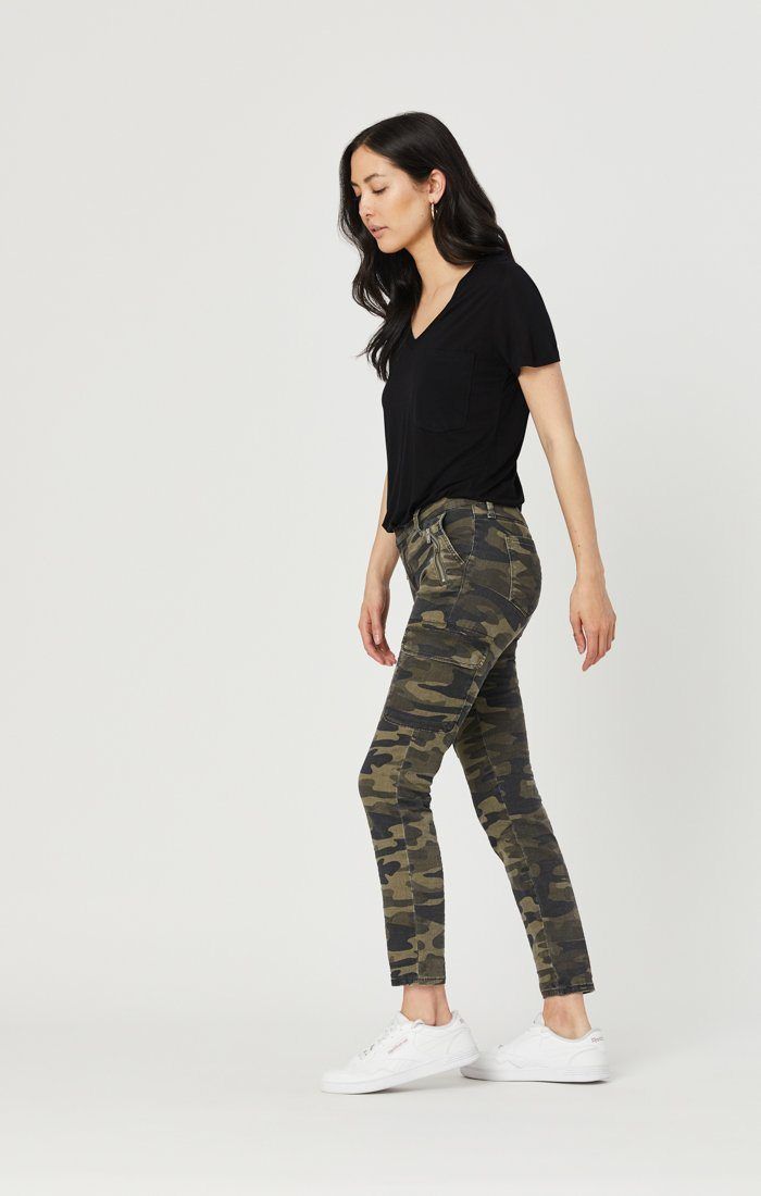 JULIETTE SKINNY CARGO IN MILITARY CAMOUFLAGE Image 4