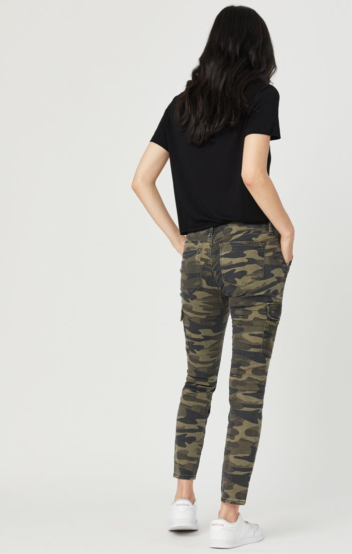 JULIETTE SKINNY CARGO IN MILITARY CAMOUFLAGE Image 6