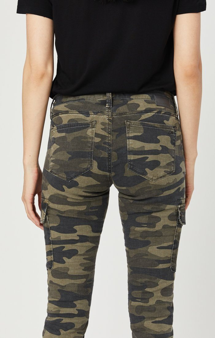 JULIETTE SKINNY CARGO IN MILITARY CAMOUFLAGE Image 7