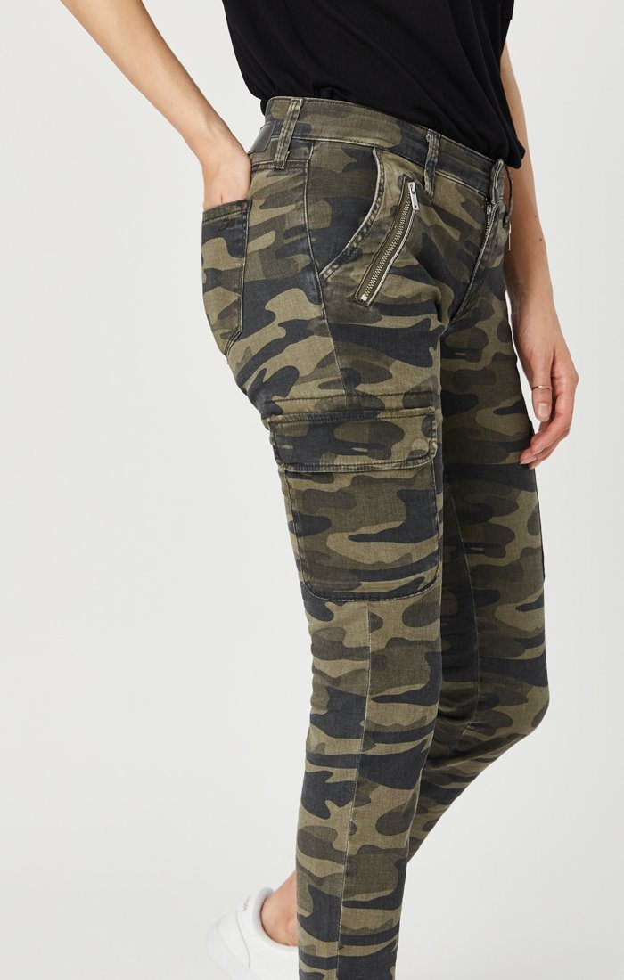 JULIETTE SKINNY CARGO IN MILITARY CAMOUFLAGE Image 5
