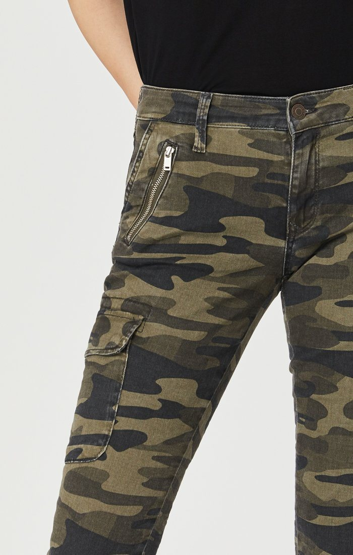 JULIETTE SKINNY CARGO IN MILITARY CAMOUFLAGE Image 3