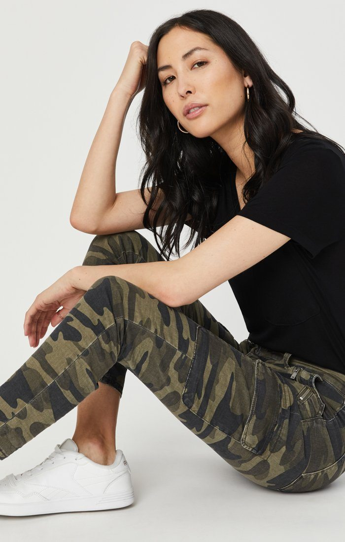 JULIETTE SKINNY CARGO IN MILITARY CAMOUFLAGE Image 1