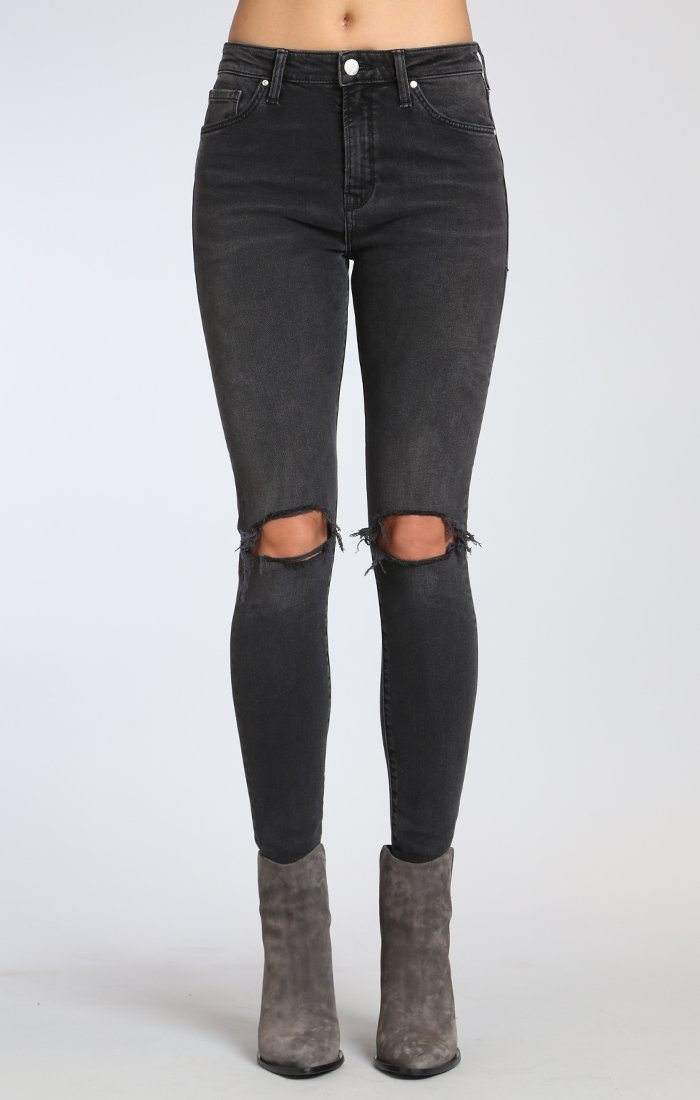 LUCY SUPER SKINNY IN SMOKE RIPPED - Mavi Jeans