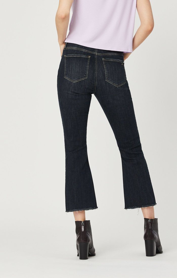 ANIKA CROP FLARE JEANS IN SMOKY RIPPED VINTAGE Image 4