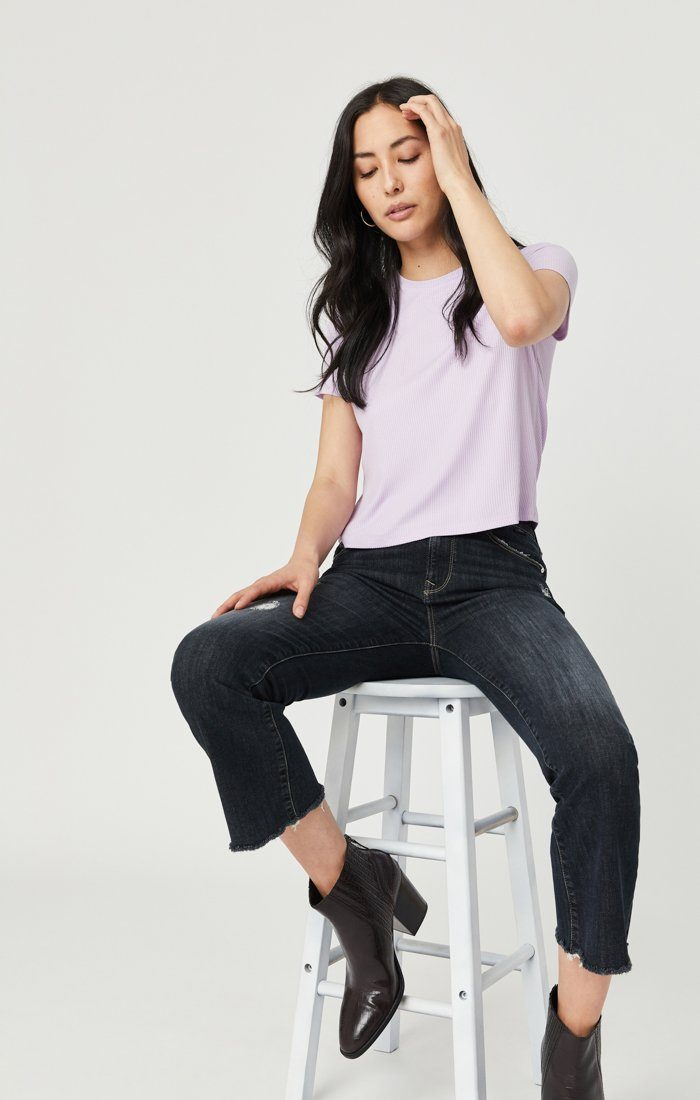ANIKA CROP FLARE JEANS IN SMOKY RIPPED VINTAGE Image 1