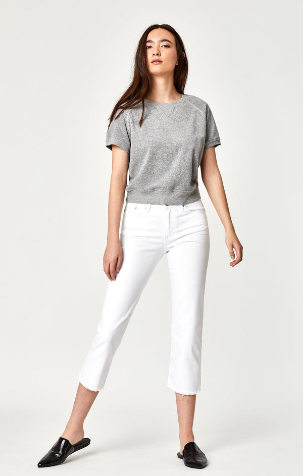 NIKI STRAIGHT CROP IN WHITE USED VINTAGE - Mavi Jeans