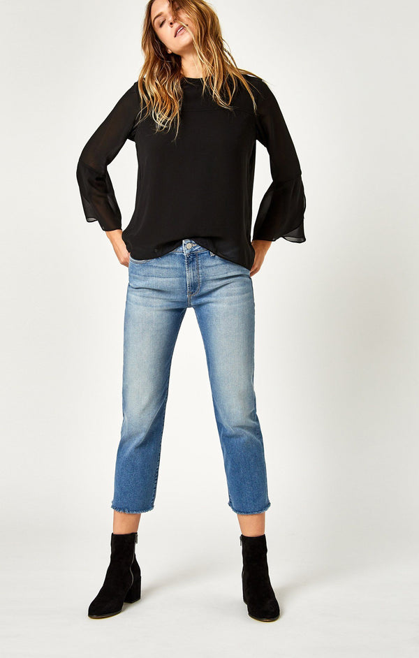 NIKI STRAIGHT CROP IN SHADED - Mavi Jeans