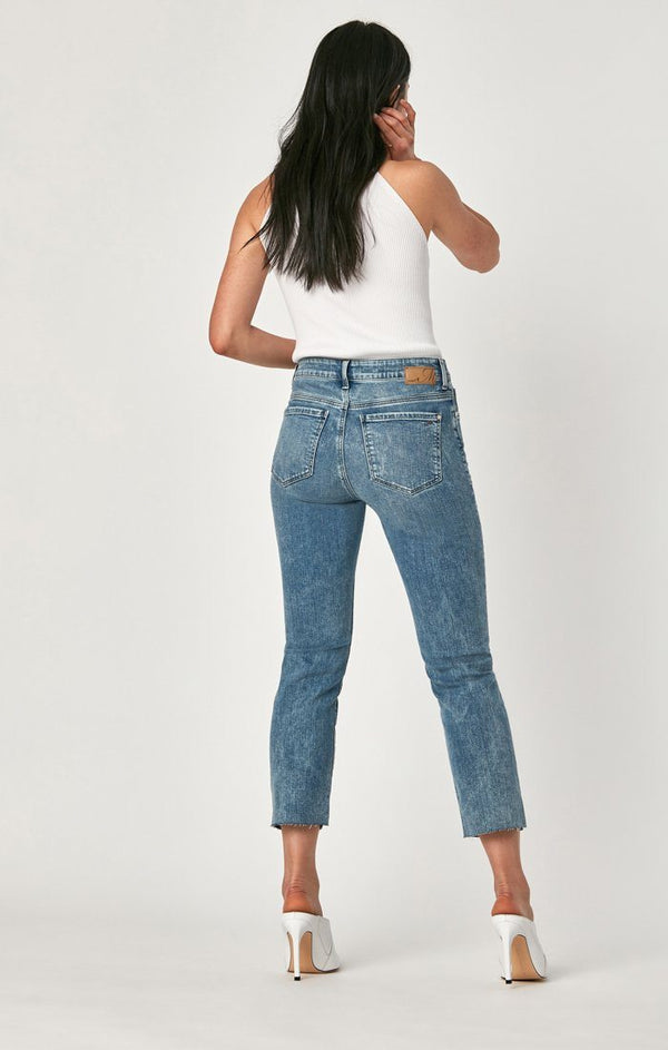 NIKI STRAIGHT CROP IN INDIGO BLUE  VINTAGE - Mavi Jeans