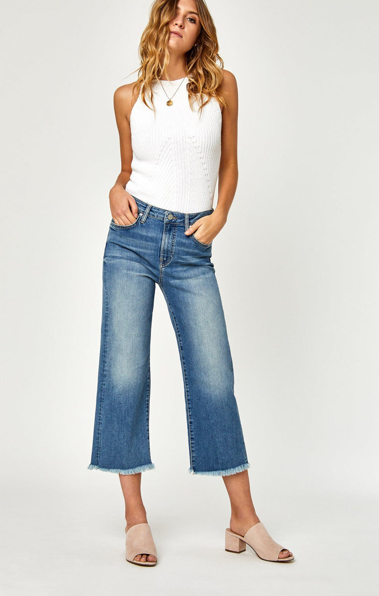 ROMEE WIDE CROP IN USED VINTAGE - Mavi Jeans