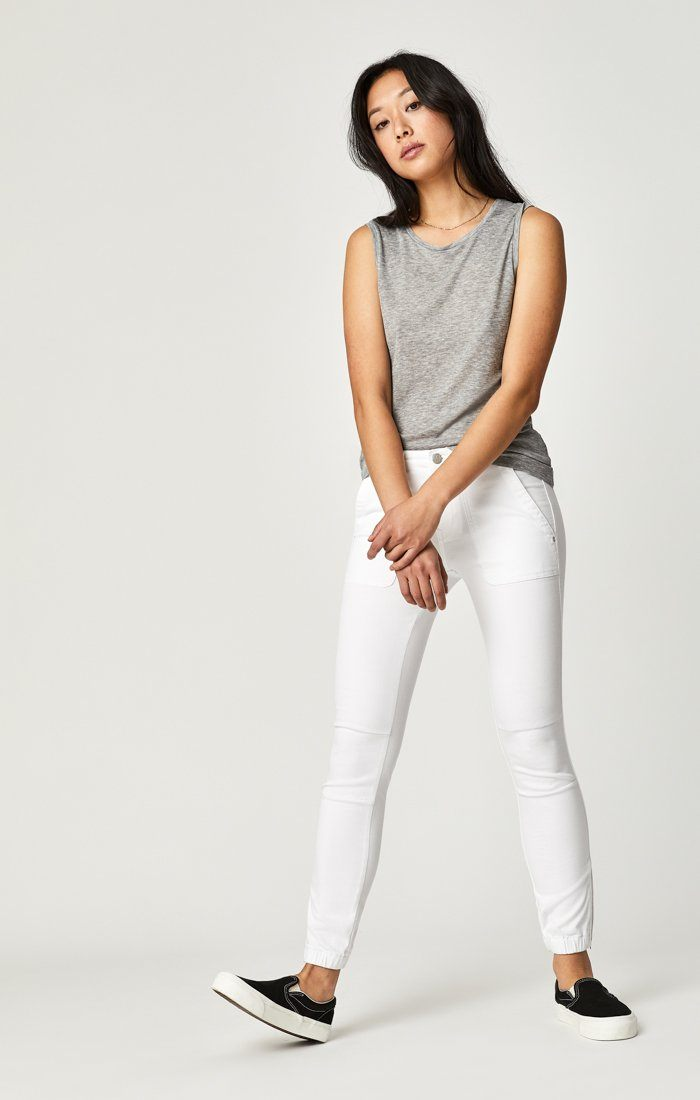 IVY CARGO PANT IN WHITE TWILL Image 2