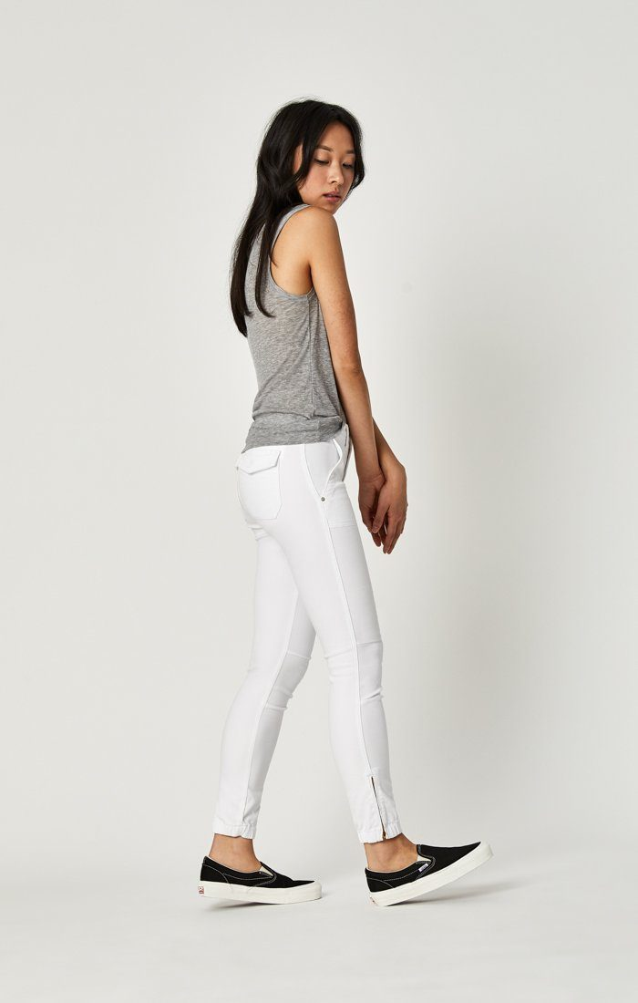 IVY CARGO PANT IN WHITE TWILL Image 3