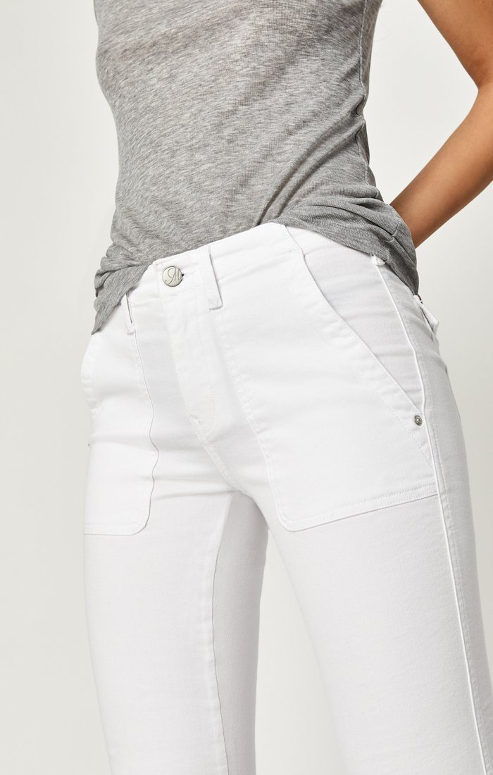 IVY CARGO PANT IN WHITE TWILL Image 6