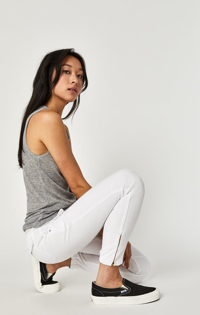 IVY CARGO PANT IN WHITE TWILL Image 1