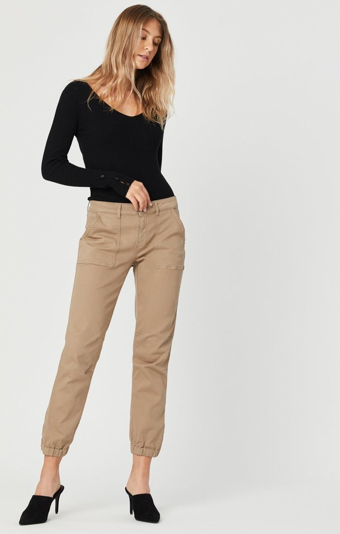 IVY SLIM CARGO PANTS IN CAPPUCCINO TWILL Image 2