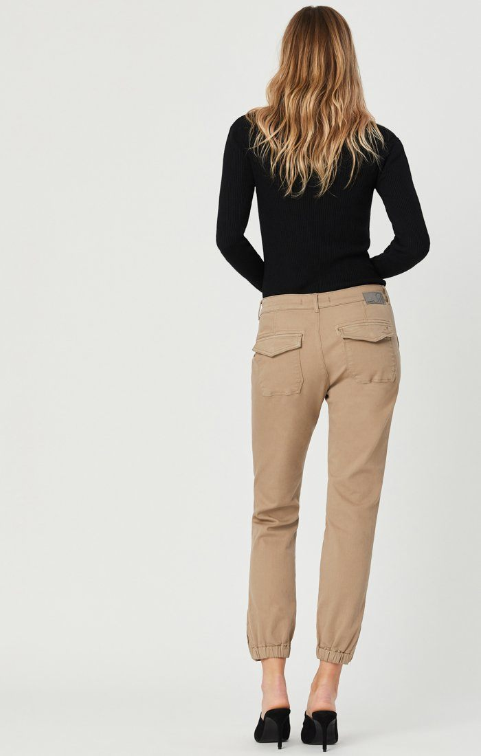 IVY SLIM CARGO PANTS IN CAPPUCCINO TWILL Image 5