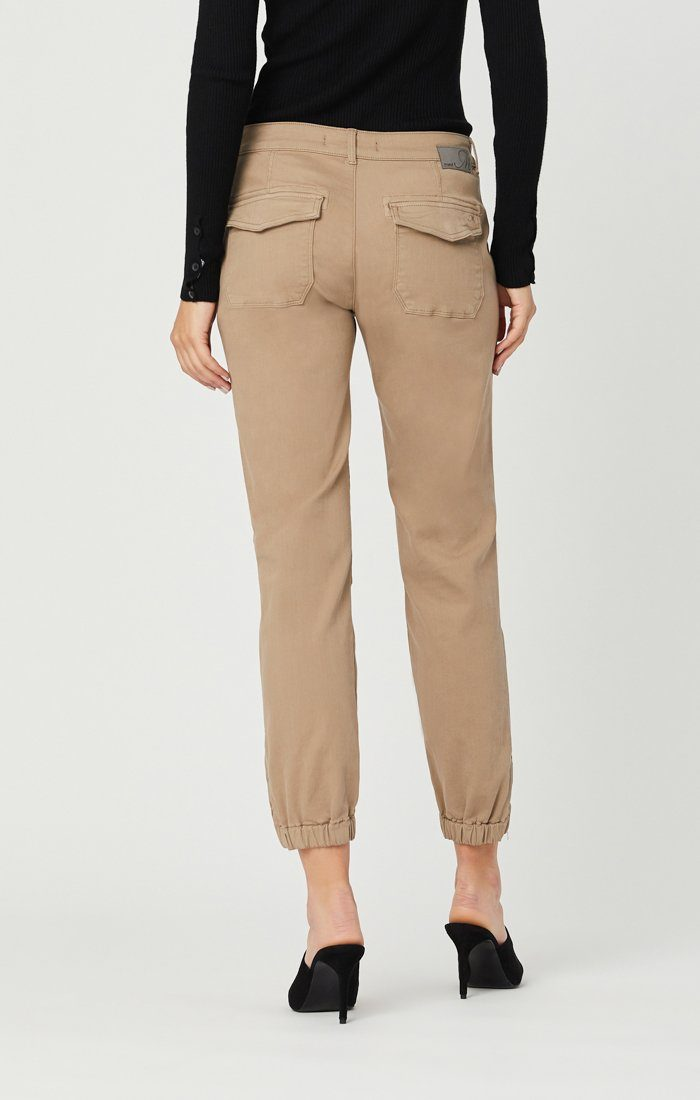 IVY SLIM CARGO PANTS IN CAPPUCCINO TWILL Image 6