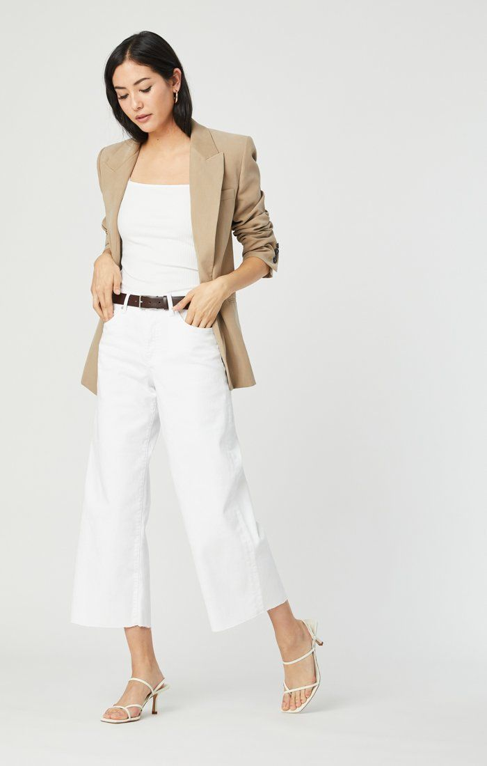 BODRUM WIDE LEG IN OFF-WHITE STRETCH Image 2