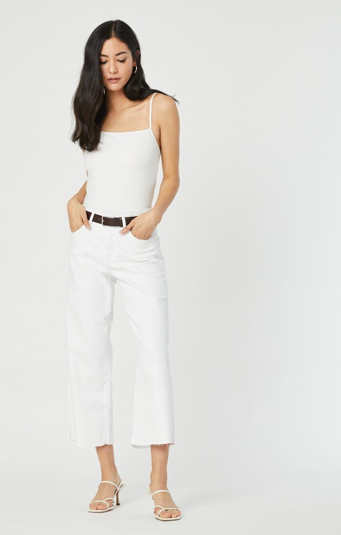 BODRUM WIDE LEG IN OFF-WHITE STRETCH Image 3