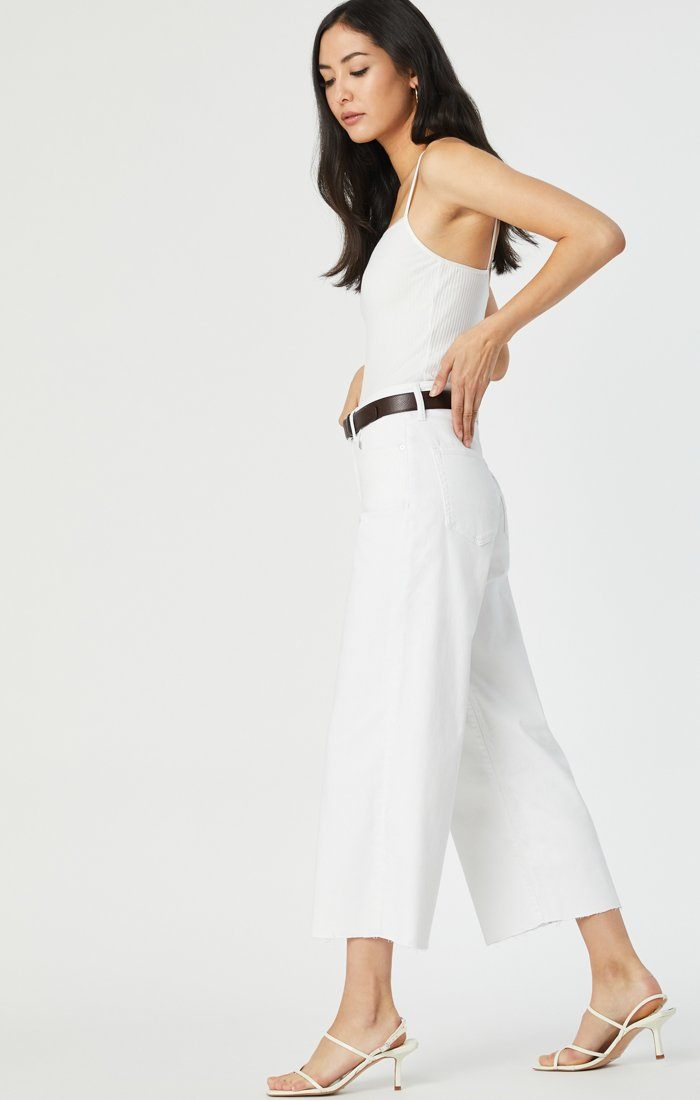 BODRUM WIDE LEG IN OFF-WHITE STRETCH Image 4