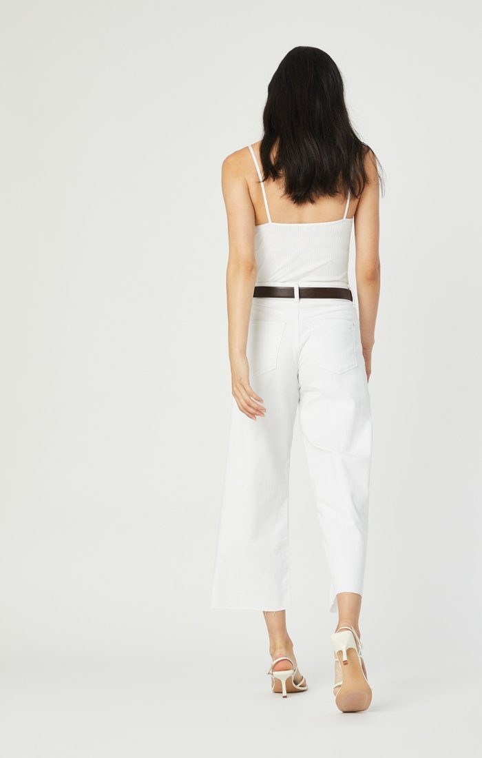 BODRUM WIDE LEG IN OFF-WHITE STRETCH Image 1