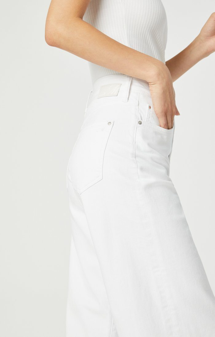 BODRUM WIDE LEG IN OFF-WHITE STRETCH Image 6