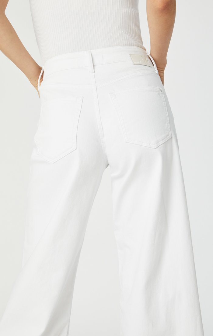 BODRUM WIDE LEG IN OFF-WHITE STRETCH Image 7