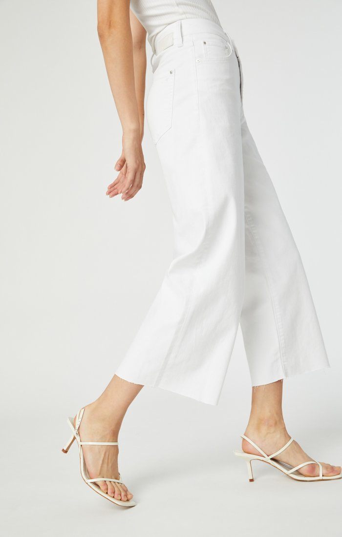 BODRUM WIDE LEG IN OFF-WHITE STRETCH Image 8
