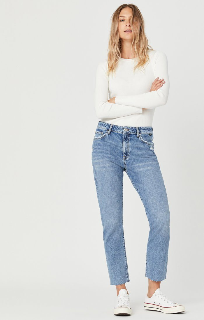 VIOLA STRAIGHT LEG JEANS IN INDIGO RECYCLED BLUE Image 2