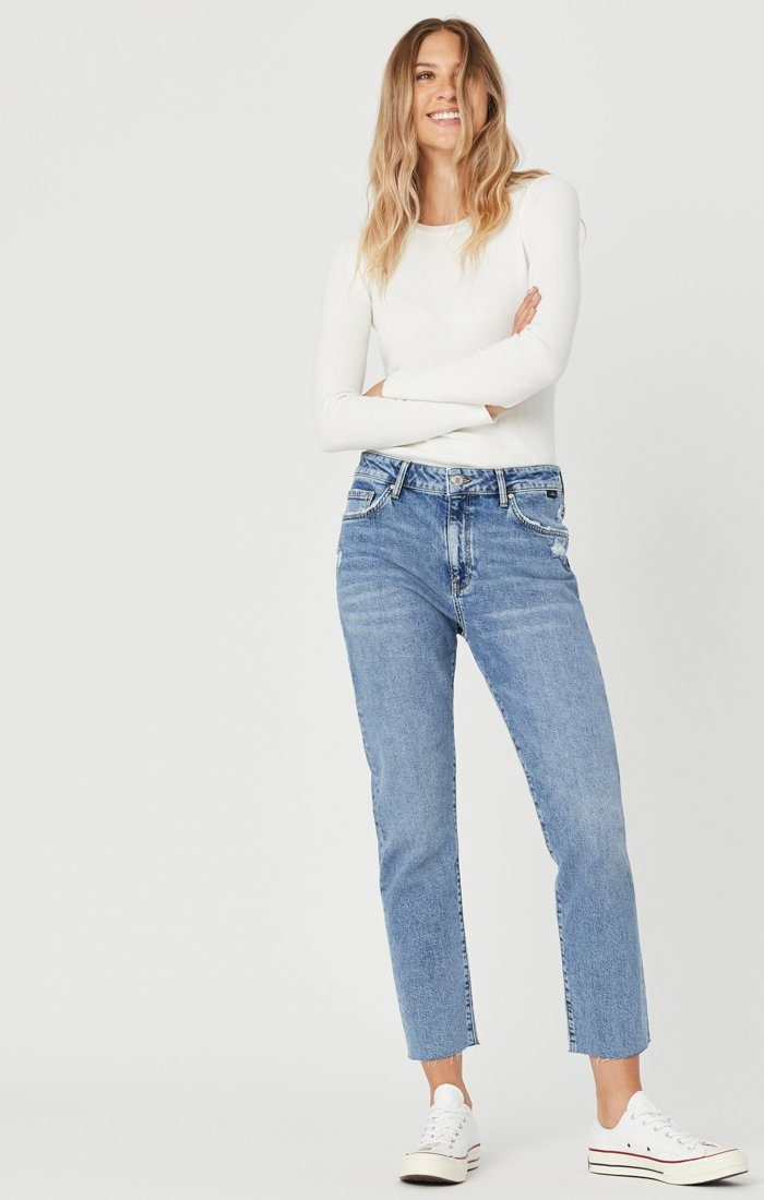 VIOLA STRAIGHT LEG JEANS IN INDIGO RECYCLED BLUE Image 3